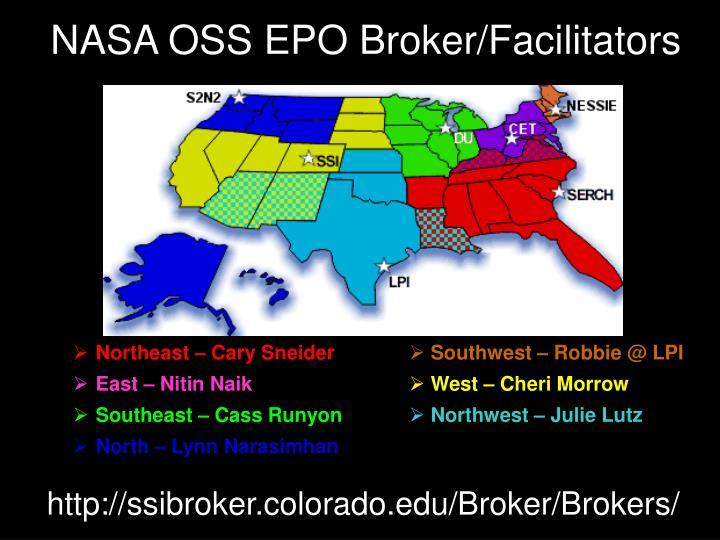 NASA OSS EPO Broker/Facilitators