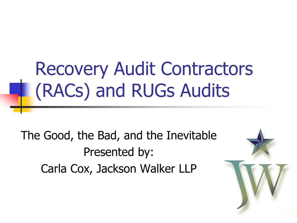 recovery audit contractors racs and rugs audits l.
