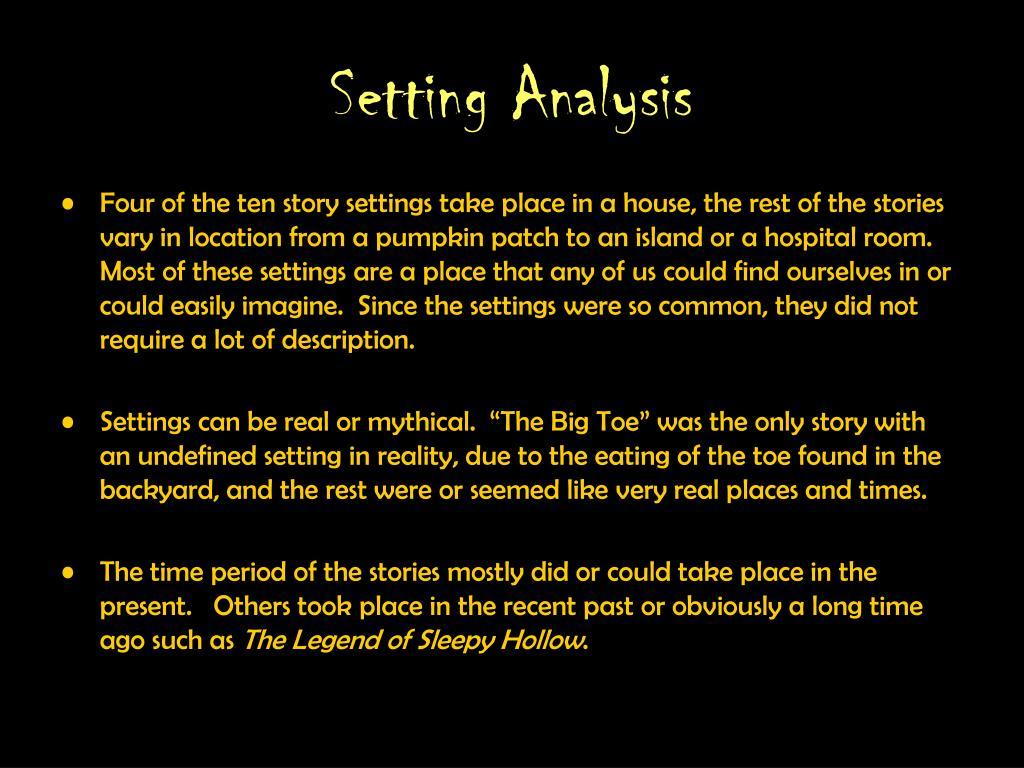 Setting Analysis