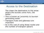 access to the destination