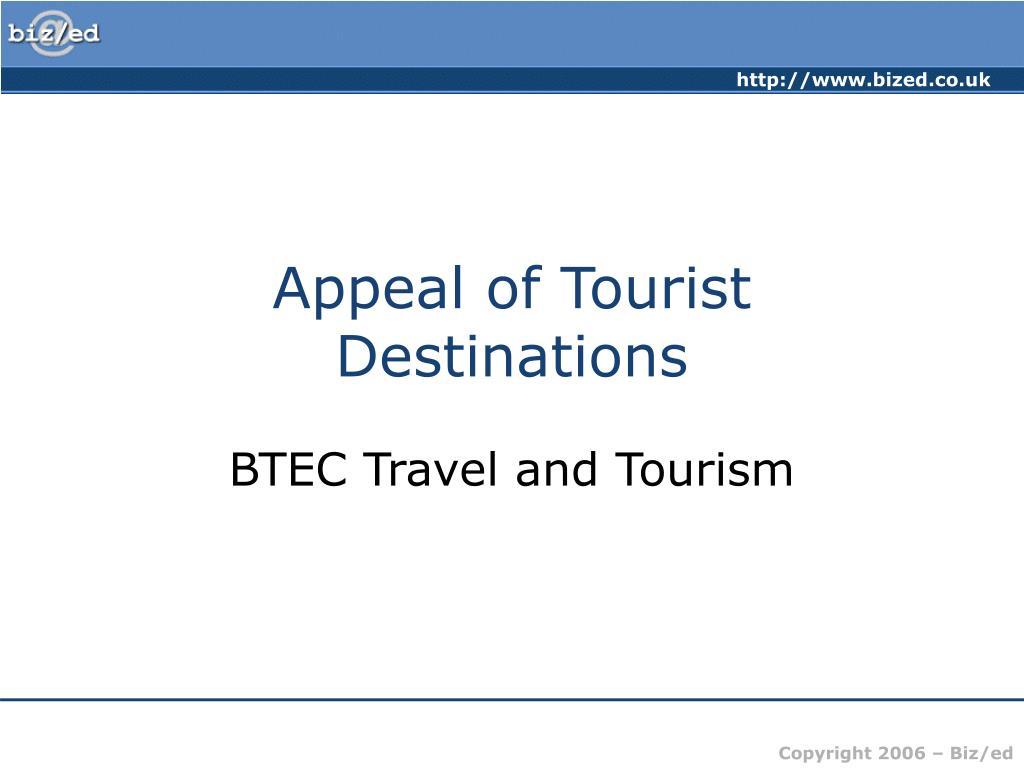 appeal of tourist destinations l.