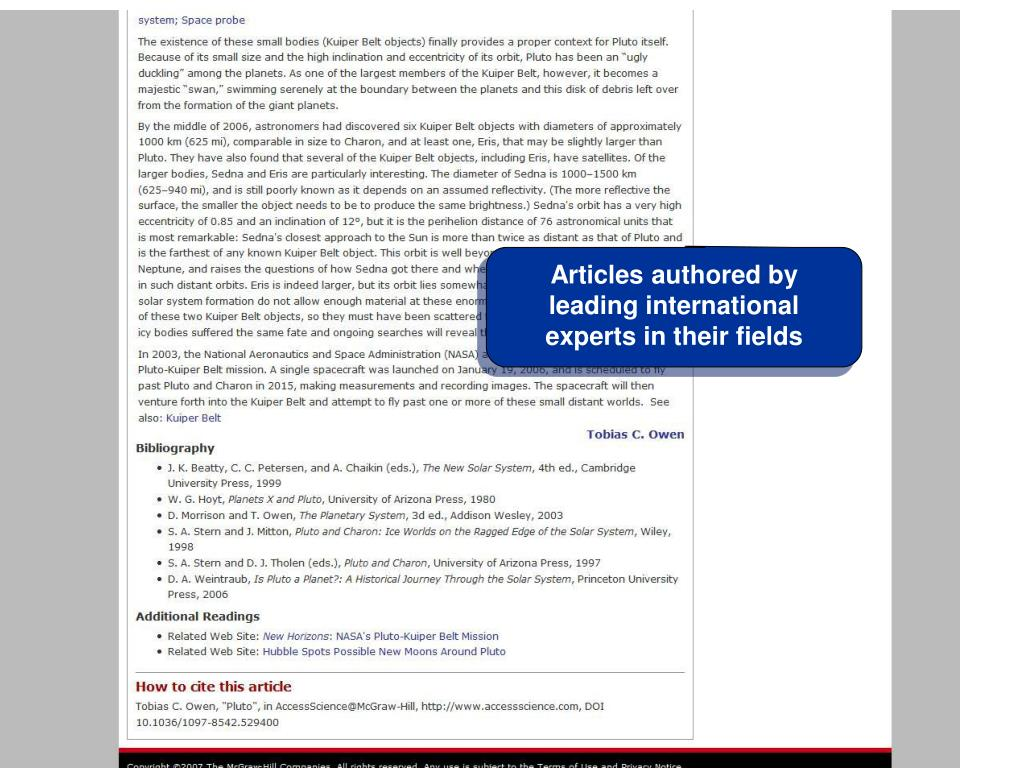 Articles authored by leading international experts in their fields