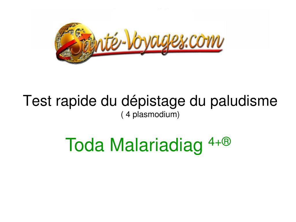 test rapide du d pistage du paludisme 4 plasmodium l.