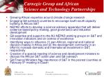carnegie group and african science and technology partnerships