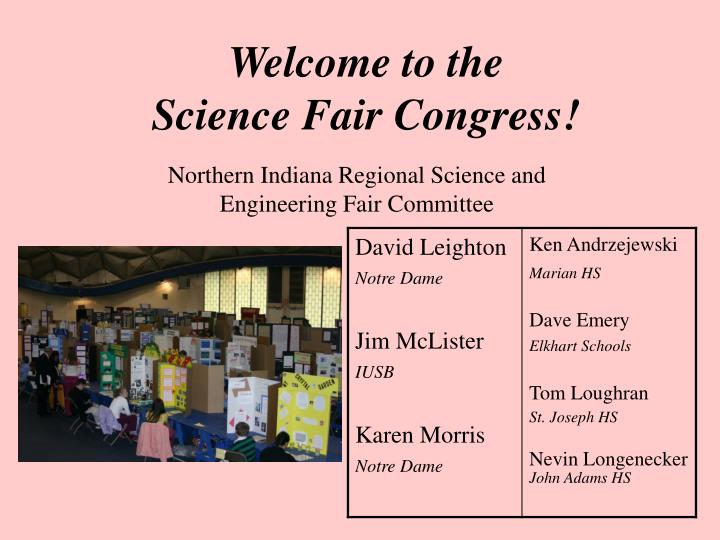 welcome to the science fair congress n.