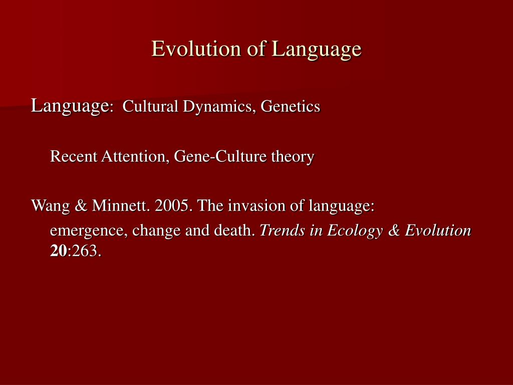 evolution of language l.