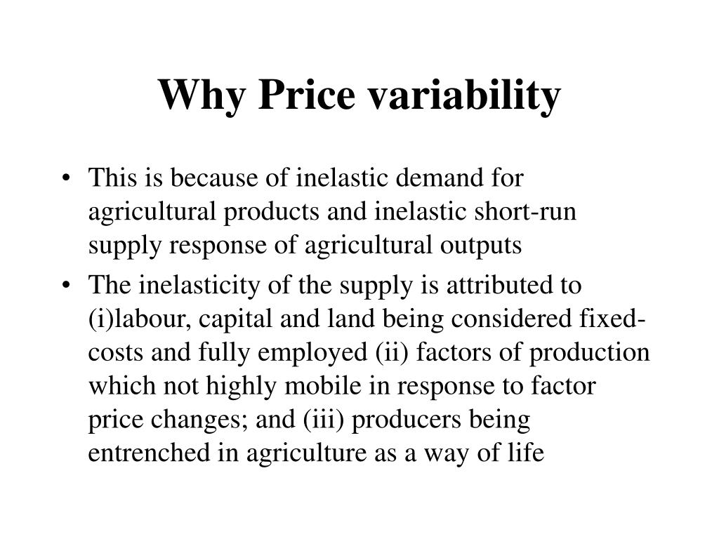 Why Price variability