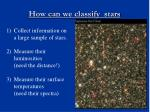 how can we classify stars