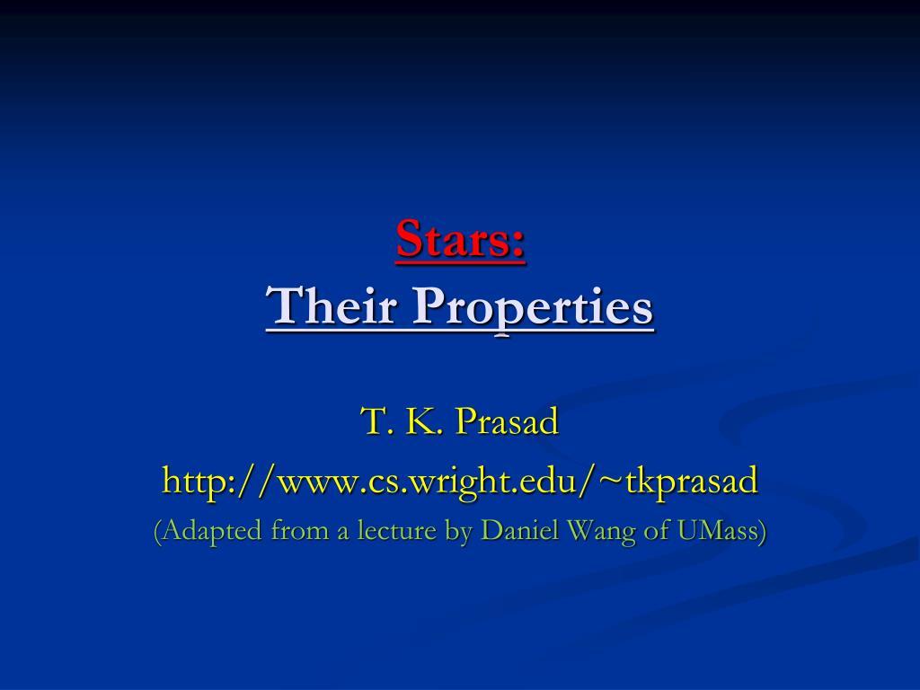 stars their properties l.