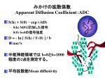 apparent diffusion coefficient adc
