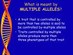 what is meant by multiple alleles35