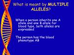 what is meant by multiple alleles37