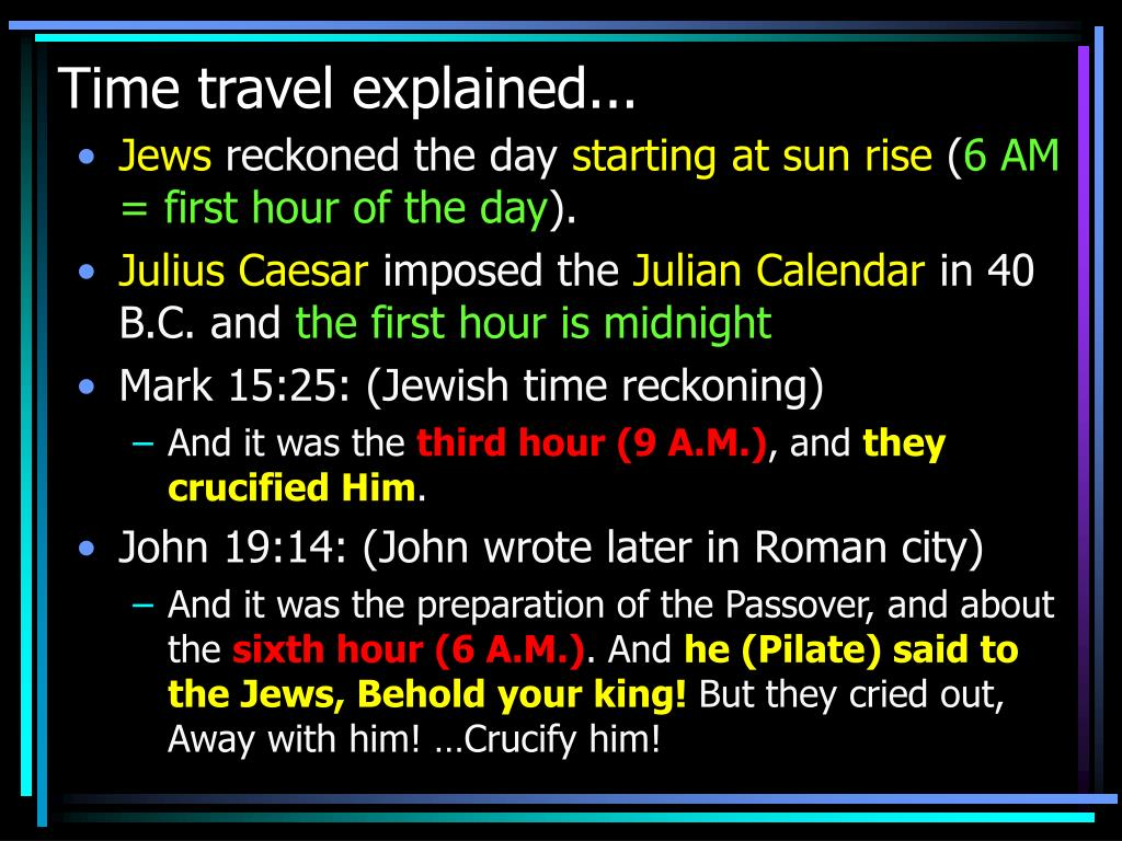 Time travel explained...
