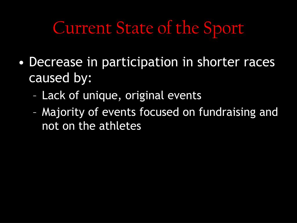 Current State of the Sport