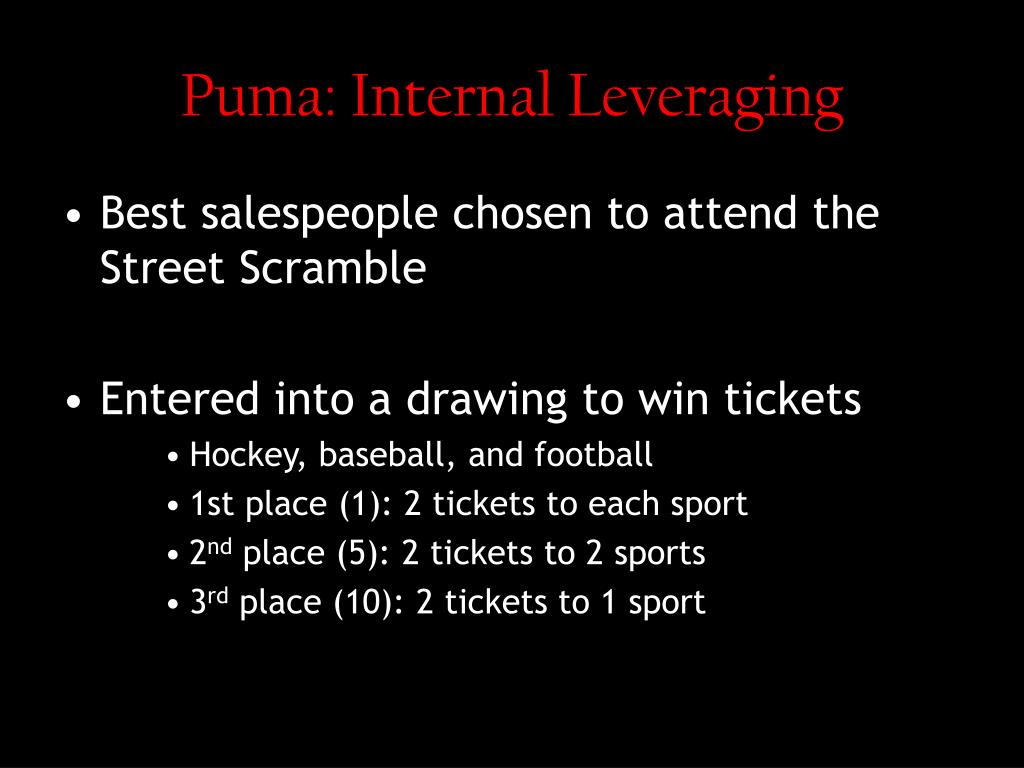Puma: Internal Leveraging