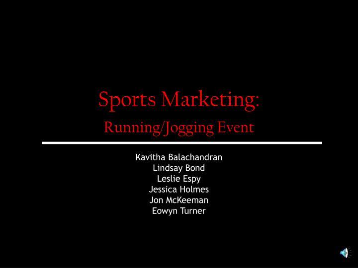 Sports marketing running jogging event