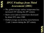 ipcc findings from third assessment 2001
