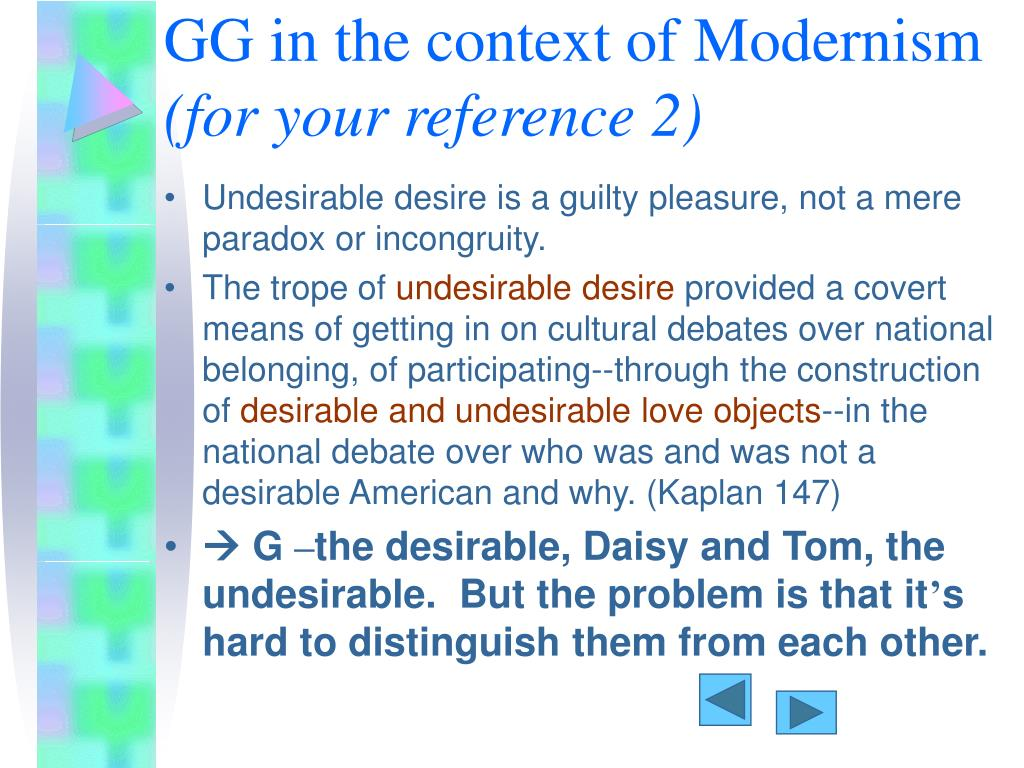 GG in the context of Modernism