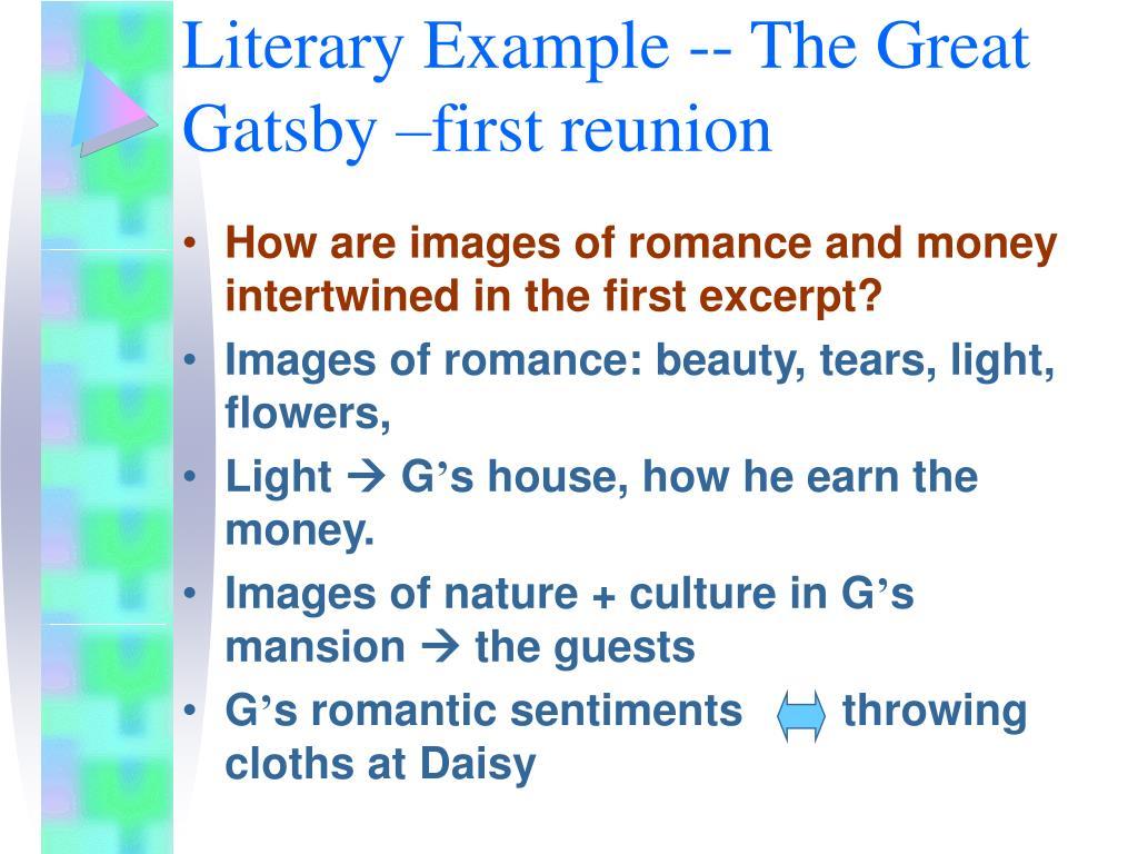 Literary Example --