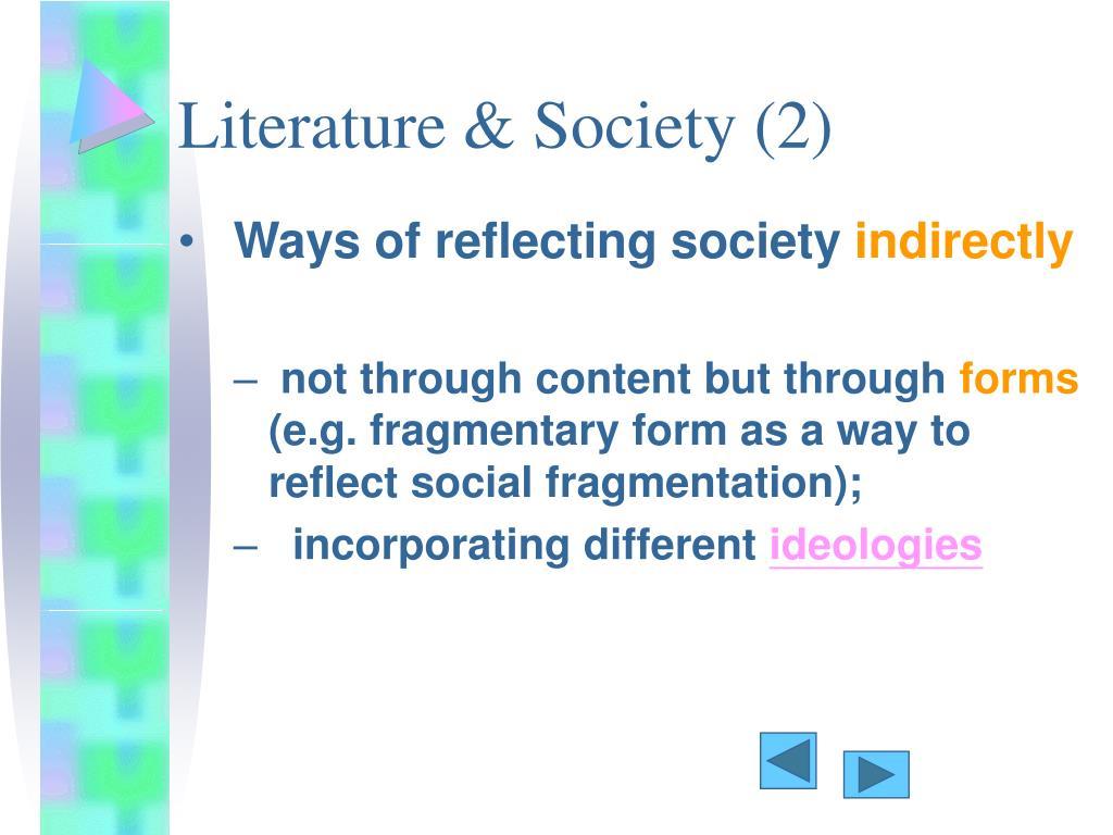 Literature & Society (2)
