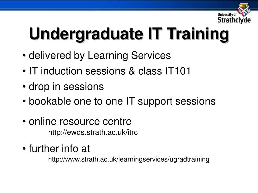 Undergraduate IT Training