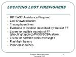 locating lost firefighers