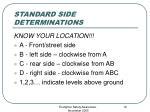 standard side determinations
