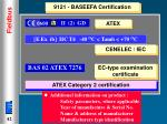 9121 baseefa certification