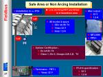 safe area or non arcing installation