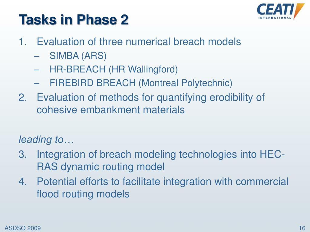 Tasks in Phase 2