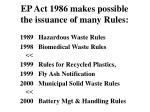 ep act 1986 makes possible the issuance of many rules