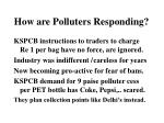 how are polluters responding