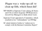 plague was a wake up call to clean up filth which surat did