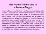 the world i want to live in amanda baggs