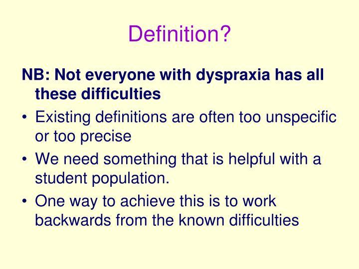 Definition?