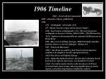 1906 timeline