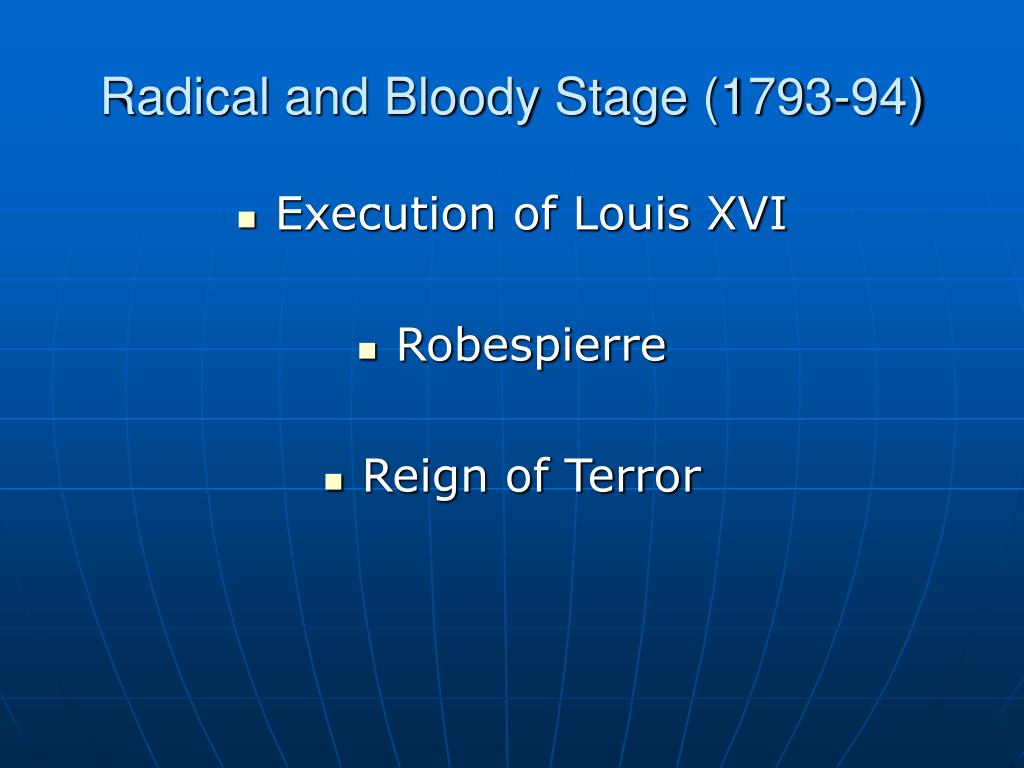 Radical and Bloody Stage (1793-94)