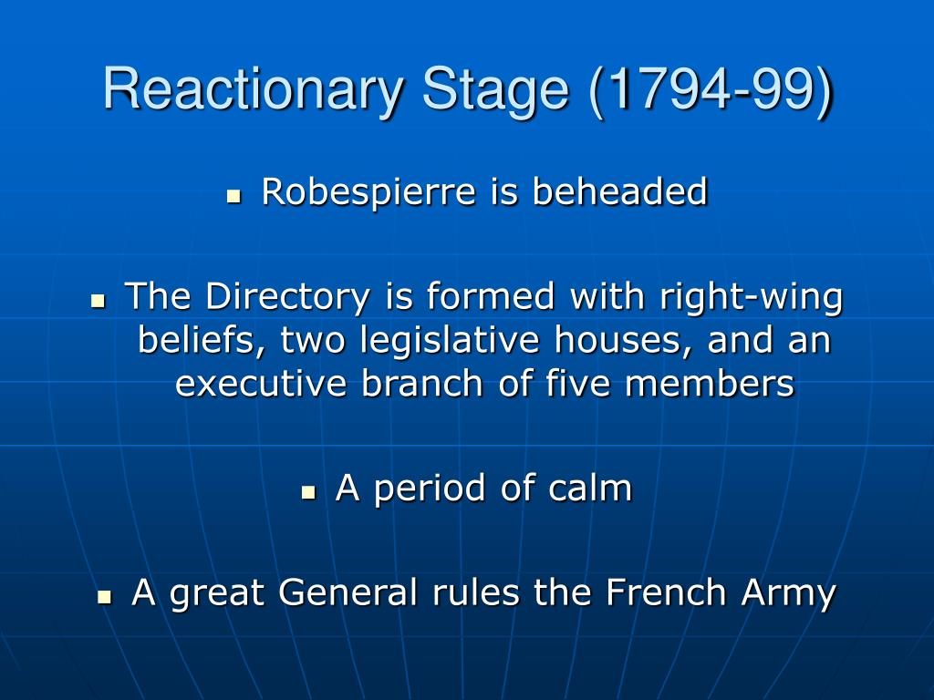 Reactionary Stage (1794-99)