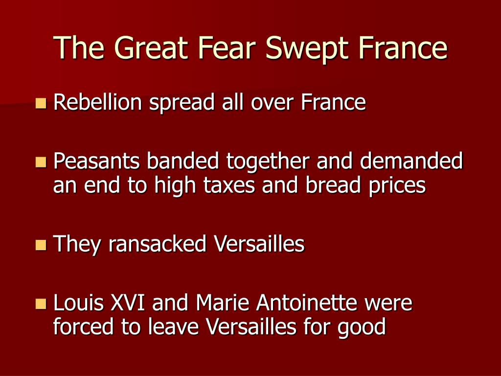 The Great Fear Swept France