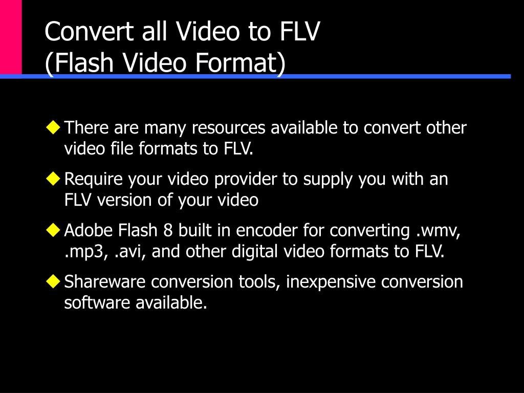 Convert all Video to FLV