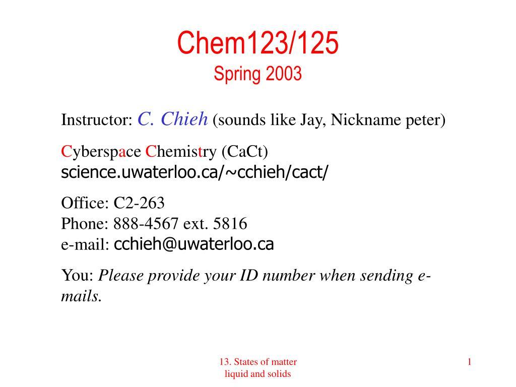 chem123 125 spring 2003