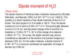 dipole moment of h 2 o