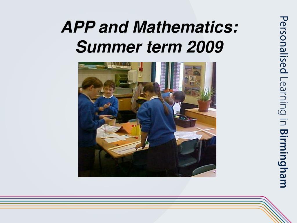APP and Mathematics: