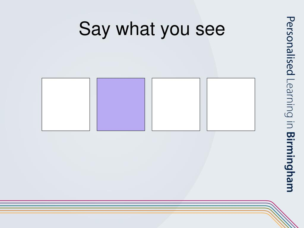 Say what you see
