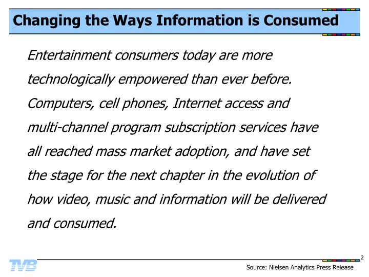 Changing the ways information is consumed
