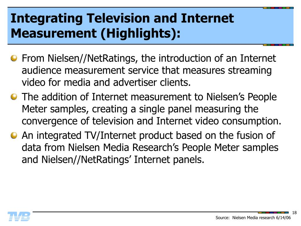 Integrating Television and Internet Measurement (Highlights):
