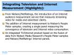 integrating television and internet measurement highlights