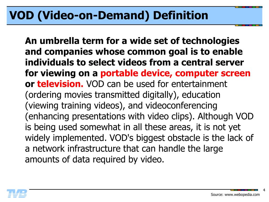 VOD (Video-on-Demand) Definition