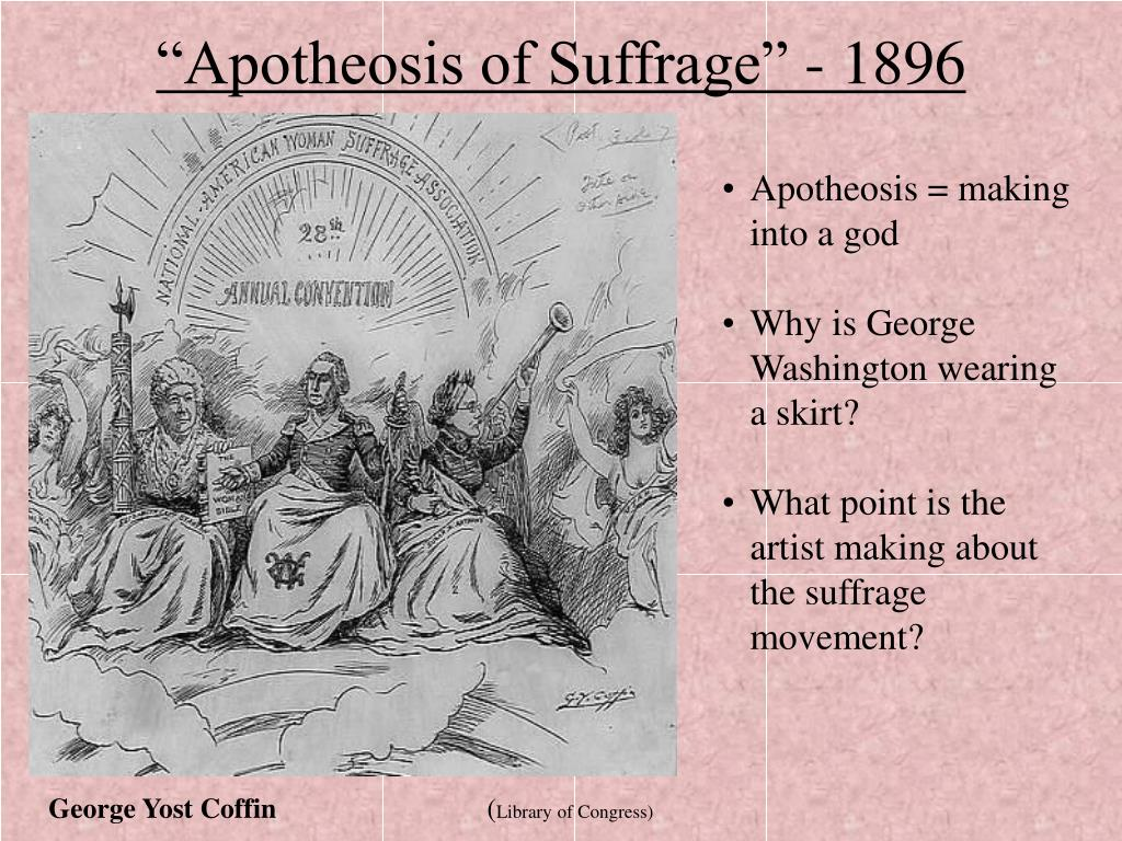 """""""Apotheosis of Suffrage"""" - 1896"""