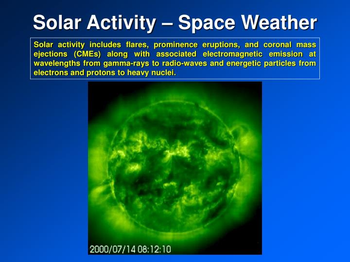 Solar activity space weather